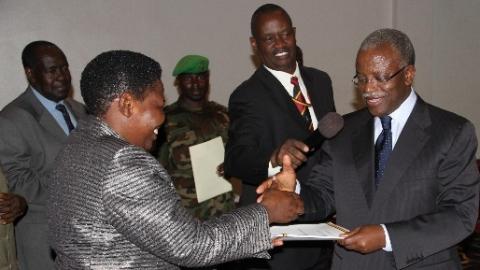 Rt. Hon. Prime Minister Amama Mbabazi Launching the Government Communication Strategy at Hotel Africana Kampala.