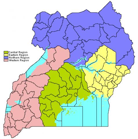 Maps Regions Uganda National Web Portal - Uganda map hd